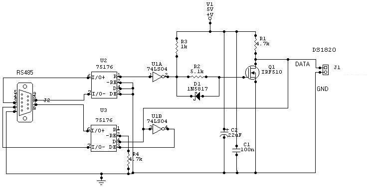 Длина линии RS485 - до 1200